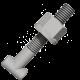 T-bolt med mutter 22 mm